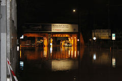 Milaan de fiumeseveso overstroming Stock Fotografie