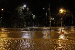 Milaan de fiumeseveso overstroming Stock Afbeelding