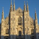 Milaan: de Kathedraal Duomo Stock Afbeeldingen