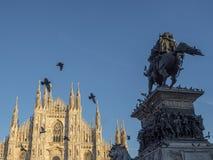 Milaan: de Kathedraal Duomo Royalty-vrije Stock Foto's