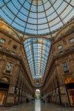 Milaan Galleria Vittorio Emanuele II Royalty-vrije Stock Afbeeldingen