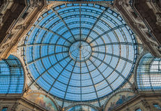 Milaan Galleria Vittorio Emanuele II Stock Fotografie