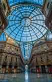 Milaan Galleria Vittorio Emanuele II Stock Foto's
