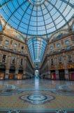 Milaan Galleria Vittorio Emanuele II Royalty-vrije Stock Fotografie