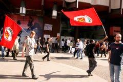 Milaan, het Italiaanse politieke protest van de Dag van de Bevrijding Royalty-vrije Stock Afbeelding