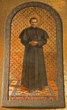 Milaan - het mozaïek van heilig trekt Bosco aan Stock Foto's