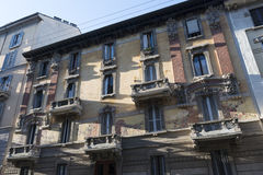 Milaan, huis in vrijheidsstijl Stock Foto's