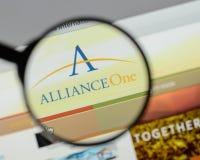 Milaan, Italië - Augustus 10, 2017: Alliance Één Internationale websi Stock Foto