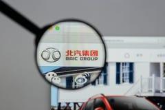 Milaan, Italië - Augustus 10, 2017: Automobiel de Groep van Peking embleem  Royalty-vrije Stock Foto's