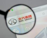 Milaan, Italië - Augustus 10, 2017: Automobiel de Groep van Peking embleem  Royalty-vrije Stock Foto