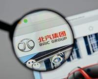 Milaan, Italië - Augustus 10, 2017: Automobiel de Groep van Peking embleem  Royalty-vrije Stock Fotografie