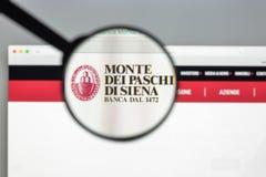 Milaan, Italië - Augustus 10, 2017: De bank w van Paschi di Siena van Montedei Royalty-vrije Stock Afbeelding