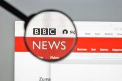 Milaan, Italië - Augustus 10, 2017: De homepage van de BBCwebsite Het is Br Royalty-vrije Stock Fotografie