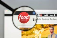Milaan, Italië - Augustus 10, 2017: De homepage van de Foodnetworkwebsite Het Royalty-vrije Stock Afbeeldingen