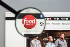 Milaan, Italië - Augustus 10, 2017: De homepage van de Foodnetworkwebsite Het Stock Afbeeldingen