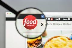 Milaan, Italië - Augustus 10, 2017: De homepage van de Foodnetworkwebsite Het Stock Fotografie