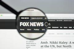 Milaan, Italië - Augustus 10, 2017: De homepage van de Foxnewswebsite Het is Royalty-vrije Stock Afbeeldingen