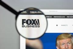 Milaan, Italië - Augustus 10, 2017: De homepage van de Foxnewswebsite Het is Stock Afbeeldingen