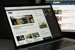 Milaan, Italië - Augustus 10, 2017: De homepage van de Foxnewswebsite Het is Royalty-vrije Stock Foto's