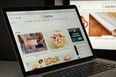 Milaan, Italië - Augustus 10, 2017: de homepage van de keukenwebsite Th Royalty-vrije Stock Fotografie