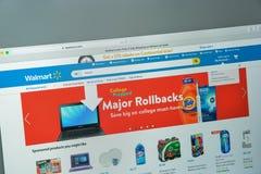 Milaan, Italië - Augustus 10, 2017: De homepage van de Walmartwebsite Het is Royalty-vrije Stock Foto