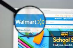 Milaan, Italië - Augustus 10, 2017: De homepage van de Walmartwebsite Het is Royalty-vrije Stock Foto's