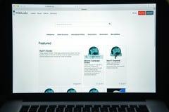 Milaan, Italië - Augustus 10, 2017: De homepage van de Wikileakswebsite Het I Royalty-vrije Stock Afbeelding
