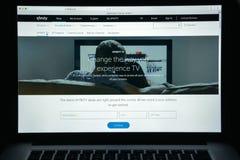 Milaan, Italië - Augustus 10, 2017: De homepage van de Xfinitywebsite Het is Stock Afbeelding