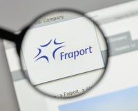 Milaan, Italië - Augustus 10, 2017: Fraport AG Frankfurt Luchthaven Ser Stock Foto's