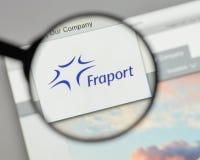 Milaan, Italië - Augustus 10, 2017: Fraport AG Frankfurt Luchthaven Ser Stock Foto