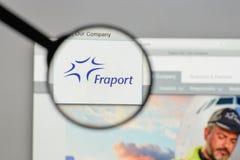 Milaan, Italië - Augustus 10, 2017: Fraport AG Frankfurt Luchthaven Ser Royalty-vrije Stock Foto