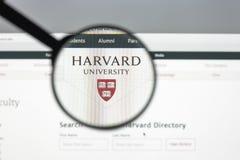 Milaan, Italië - Augustus 10, 2017: Harvard de homepage van de eduwebsite Ha royalty-vrije stock foto