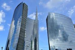 Milaan, Italië, de nieuwe wolkenkrabber van Porta Nuova Royalty-vrije Stock Foto's