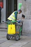 Milaan, Italië - de Stads Schoonmakende Dienst Stock Foto