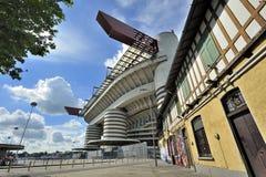 Milaan, Italië, de voetbalstadion van San Siro Stock Foto