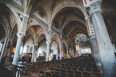 MILAAN, ITALIË - DECEMBER 10.2015: Kerk Heilige Mary van Gunst (Santa Maria delle Grazie), Milaan Royalty-vrije Stock Afbeeldingen
