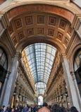 Milaan, Italië. Galeria Vittorio Emanuele II royalty-vrije stock foto