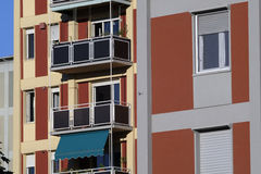 Milaan Italië gebouwen dichtbij Citylife en Portello Stock Foto