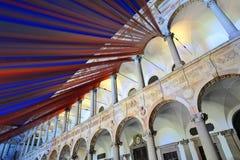 Milaan, Italië, het Ontwerpweek van 2016 - Fuorisalone UniversitàStatale Royalty-vrije Stock Foto
