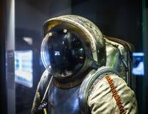 MILAAN, ITALIË - JUNI 9, 2016: astronaut spacesuit bij de Wetenschap Stock Afbeeldingen