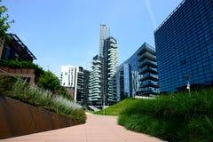 Milaan, Italië 06 juni 2014: het nieuwe district van Porta Nuova, Milan Italy June 0 Stock Afbeelding