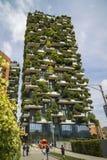MILAAN, ITALIË - MEI 28, 2017: Bosco Verticale Vertical Forest l Royalty-vrije Stock Afbeelding
