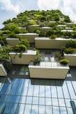 MILAAN, ITALIË - MEI 28, 2017: Bosco Verticale Vertical Forest l Stock Foto's