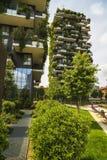 MILAAN, ITALIË - MEI 28, 2017: Bosco Verticale Vertical Forest l Royalty-vrije Stock Foto