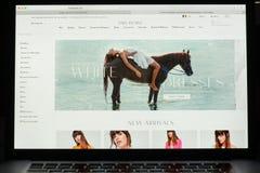 Milaan, Italië - Mei 7, 2017: De vrije homepage van de Mensenwebsite Het is a Royalty-vrije Stock Afbeelding