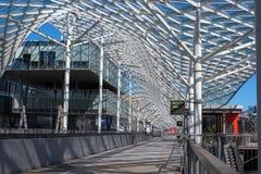 Milaan, Italië - Mei 24, 2016: Fiera Milaan Rho is een belangrijke internationale handelsbeurs en een conferentie bij de visuele  Stock Afbeelding