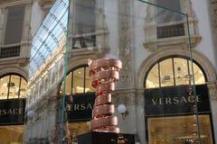 Milaan, Italië: 1 mei 2017 - Illustratief en Redactiebeeld van de trofee van Ciro DE Italië 2017 in Milaan Dit is veelvoudig-stad royalty-vrije stock foto's