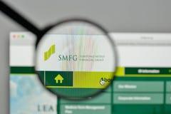 Milaan, Italië - November 1, 2017: De Financiële Groep van Sumitomo Mitsui Stock Afbeelding