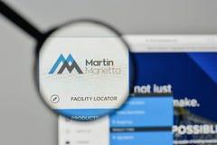 Milaan, Italië - November 1, 2017: Martin Marietta Materials-embleem Royalty-vrije Stock Foto