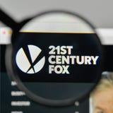 Milaan, Italië - November 1, 2017: 21ste Century Fox-embleem op wij Royalty-vrije Stock Foto